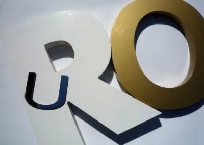 Lettres Reliefs - Equipements - Publicité Décor